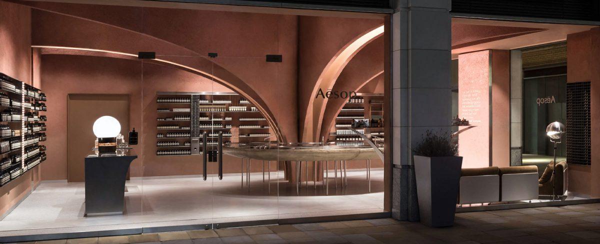 Snohetta designed Aesop store in central London