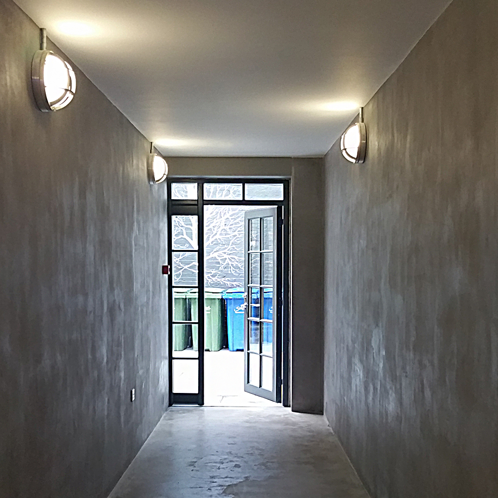 183 Clayworks Polished Plaster Cement Concrete Walls  Naturally Pigmented Surface Design Industrial Interiors Architecture    Clayworks