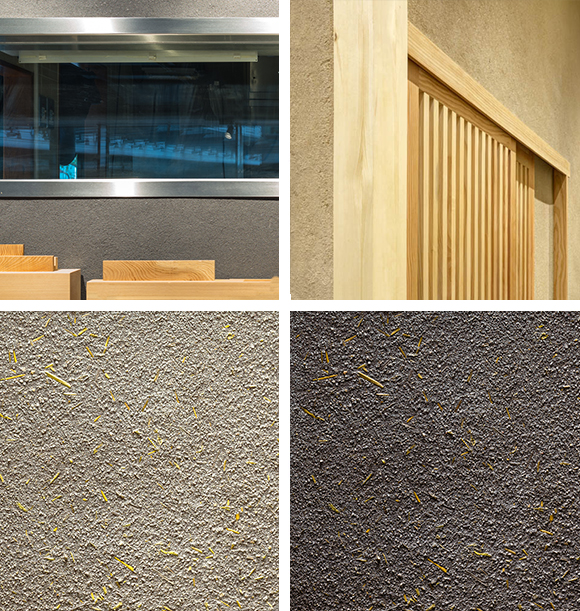 natural pigments and straw - Wall Plastering Designs