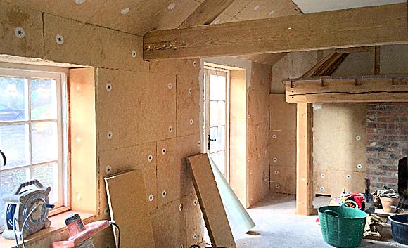 wood fibre backing boards