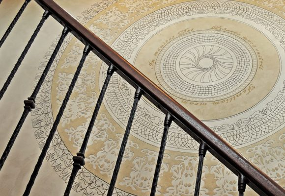 luxury residential with sgraffito interior decoration