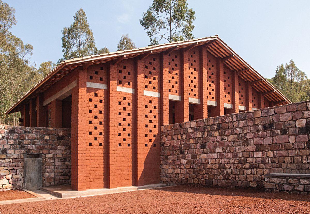 Traditional clay brick building