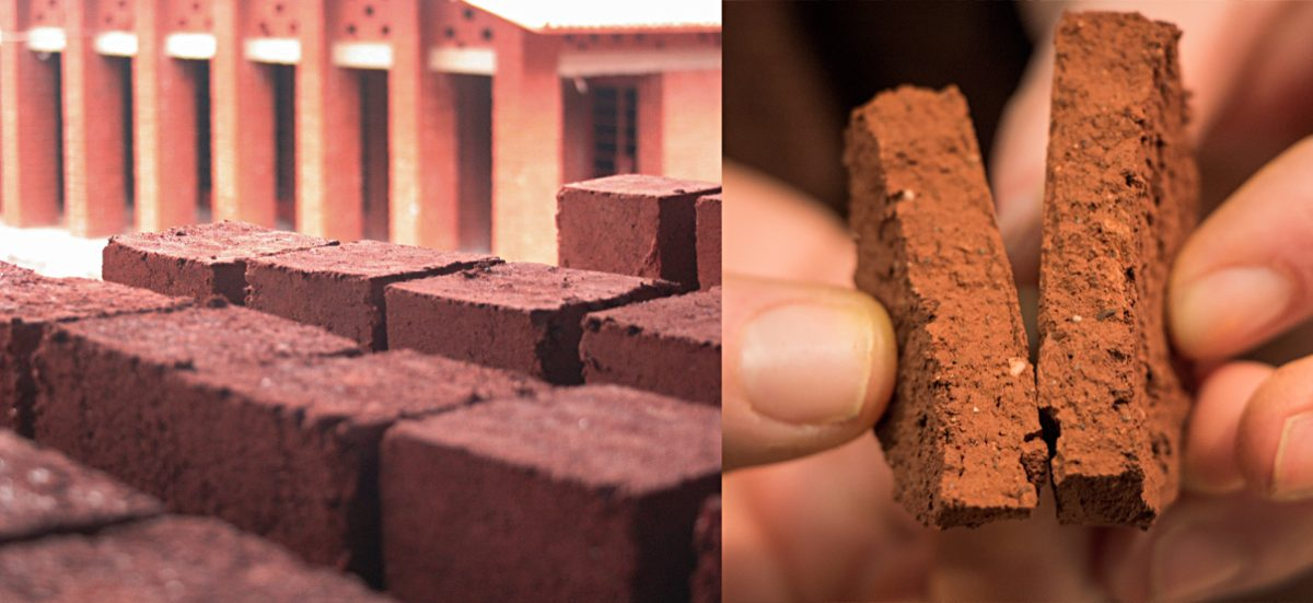 African red earth clay bricks