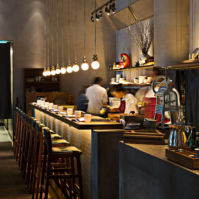 Clayworks clay plaster wall finishes for London restaurant