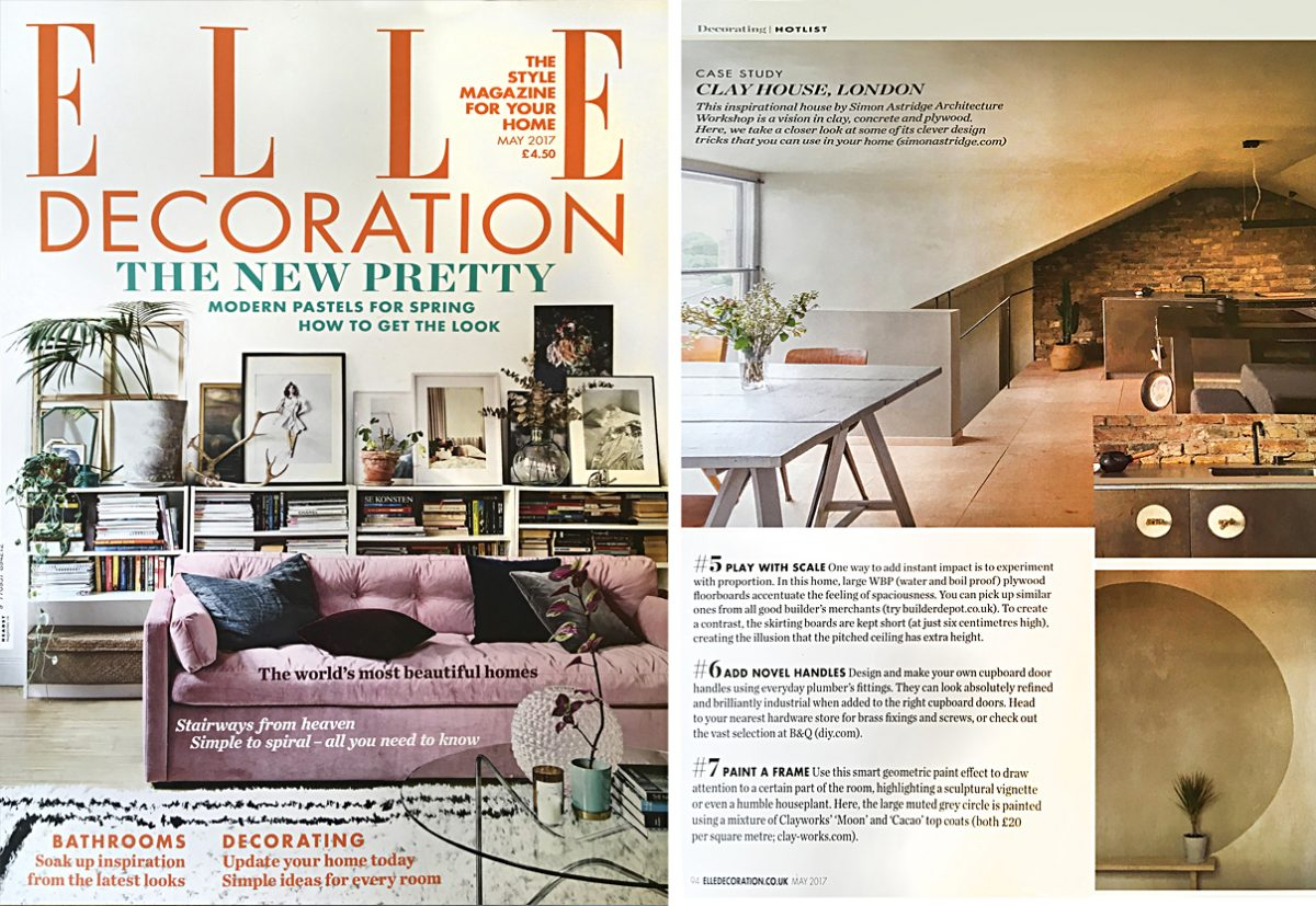 Elle Decoration features Clay House - Clayworks on cheap house designs, tree house designs, fourplex house designs, single level house designs, pyramid house designs, spanish house designs, frame home designs, wheel house designs, 2015 house designs, 3 story house designs, cabin designs, 2 story house designs, off the grid house designs, log house designs, wooden house designs, shade house designs, best house designs, craftsman house designs, nice house designs, small house designs,