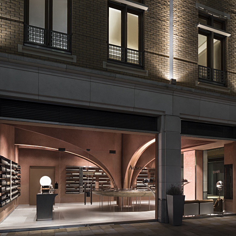 Snohetta designed Aesop store at Duke of York Square, London