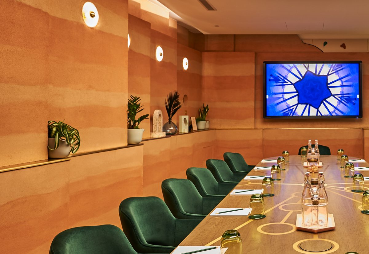 Hilton London Bankside's extraordinary interactive meeting room.