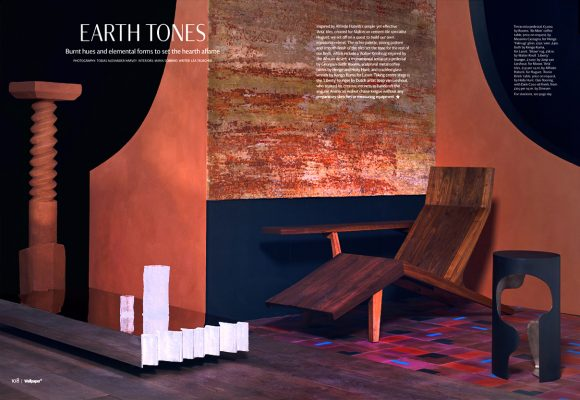 Stylist and set designer Maria Sobrino creates set for Wallpaper Magazine.